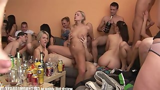 Most Beautiful Amateur Czech Girls Come To Wild Drunk Orgy