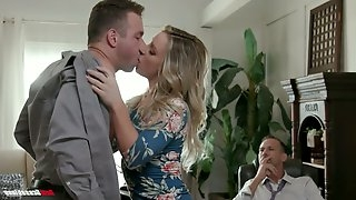 Whore wife Kate Kennedy is fucked by hot blooded lover in front of cuckold husband