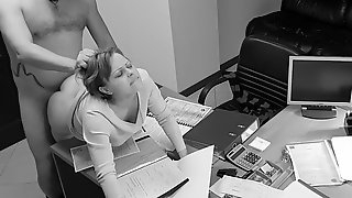 Seduction of office assistant caught on hidden security webcam