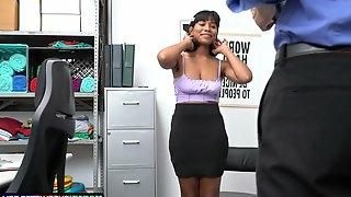 Horny Mall Officer enjoys flirting and fucking Jenna Foxx in the office