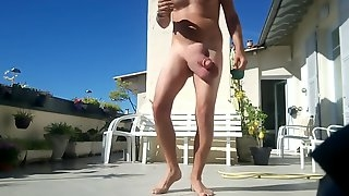 Huge balls hanging after pump session in the sun