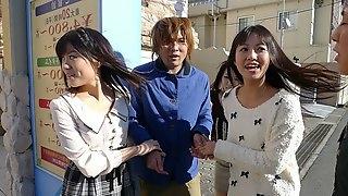 Asakura Kotomi & Chise Aoba & Tsubaki Housho in Cock hunters Kotomi Asakura, Tsubaki Housho, Chise Aoba visiting a fan - JapanHDV