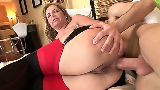 Old and young anal: big ass mature MILF ass fucked by younger lad