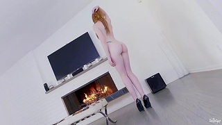 Big cock for the tall ginger babe on vivacity