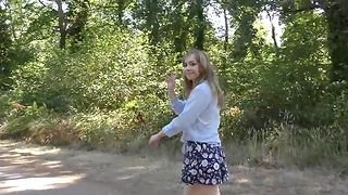 lovely teen with flimsy pussy does porn casting